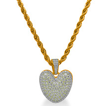 """925 Sterling Silver Gold Plated Custom Iced Out Bubble Letter """"V"""" with 24"""" Chain - $79.99"""