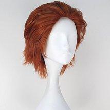 Miss U Hair Men Short Straight Hair Synthetic Auburn Color Halloween Cosplay Wig image 3