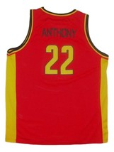 Carmelo Anthony Oak Hill Custom Basketball Jersey Sewn Red Any Size image 2