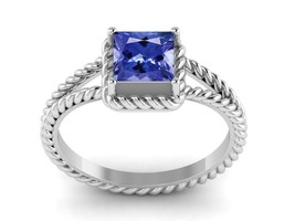 Gorgeous Looking Tanzanite Shiny Gemstone 925 Sterling Silver Ring Sz 7 ... - £23.74 GBP