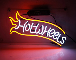 "Handmade 'Hot wheels' Play Room Decor Banner Neon Light Sign 14""x9"" - $59.00"
