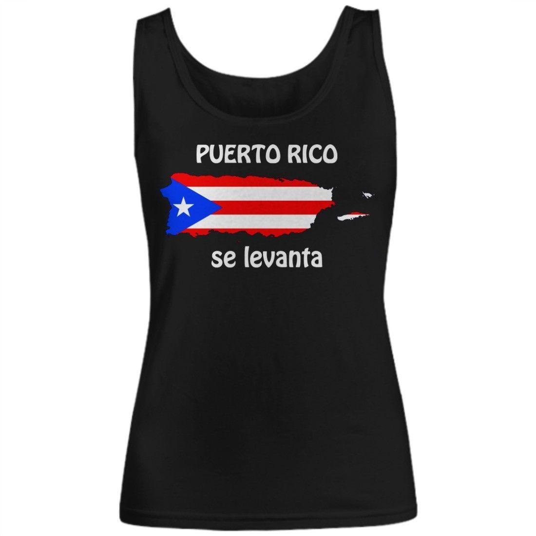 Puerto Rico Se Levanta PR Flag Pride Gift for Her Ladies Womens Tank Top Shirt - $19.11