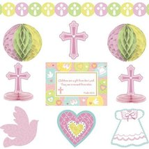 Amscan Sweet Christening Pink Decorating Kit - $11.78