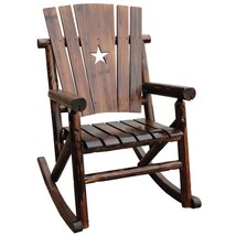 Char-Log Porch Patio Rocking Chair with Cut Out Star - $120.99