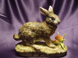 Lefton China Hand Painted Rabbit Hare with Mushrooms Porcelain Figure KW... - $24.75
