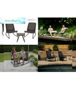 Keter Rio 3 Pc All Weather Outdoor Patio Garden Conversation Chair & Tab... - $112.60