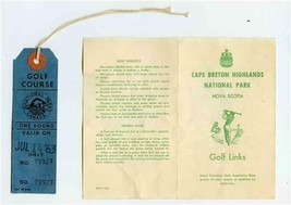 Cape Breton Highlands National Park Golf Course Score Card & Round Ticke... - $37.62