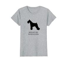 Miniature Schnauzer Shirt - black silhouette - $19.99+