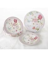 Delton Products Pink Grace Pattern Porcelain 2-Dessert Plates w/Matching... - $25.73