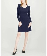 Maison Jules Ribbed Sweater Dress Blue X-Large - $78.71