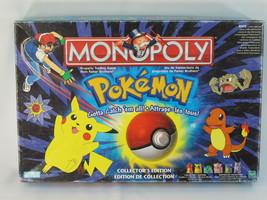 MONOPOLY POKEMON 1999 COLLECTORS EDITION 99% COMPLETE EUC BILINGUAL - $59.81
