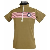 Equine Couture Kids Child Youth Patriot Polo SS Olive Size XL image 1