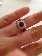 Pre Owned David Yurman Petite Albion Amethyst  and Diamond Ring Size 6 - $320.00
