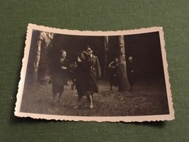 Vintage Photograph Social History German Soldier In Uniform With Young L... - $6.75
