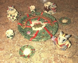Woodland Christmas figurines  Critters Tea Party Scattered table decor d... - $10.00