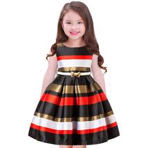 Baby Girls Striped Dress For Girls Formal Wedding Party Dresses Kids Pri... - $34.99