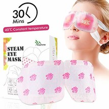 Natural Warming Steam Eye Mask for Reducing Eye Stress and Puffy Eyes, R... - $18.08