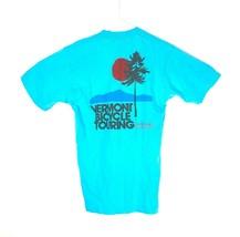 VTG Vermont Cycling Tours Men's Blue Spell Out Single Stitch T-Shirt Sz ... - $59.40