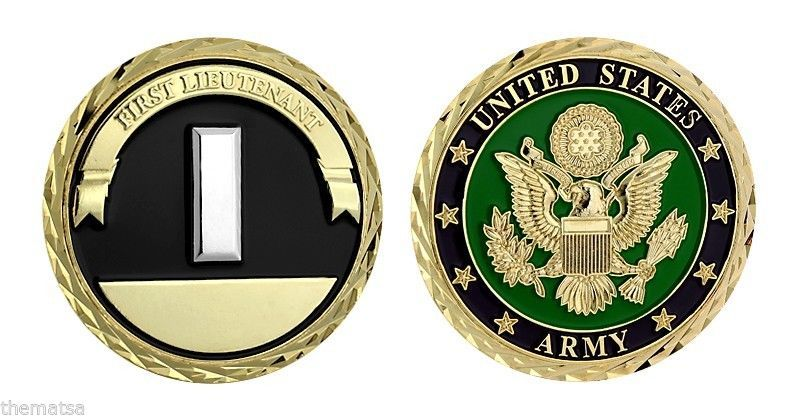 "FIRST LIEUTENANT ARMY SEAL 1.75"" MILITARY CHALLENGE COIN"