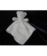Blankets & Beyond Cream Ivory Ecru Sherpa Bear Baby Blanket Bow Security Lovey - $23.74