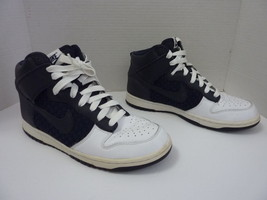 Mens Nike Dunk High Sneakers - US Size 9.5 - Navy Blue and White - Checker - £31.25 GBP
