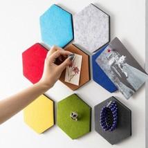Geometry Hexagon Key Organizer Self Adhesive Wall Sticker Decoration Mur... - $7.43