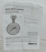 Watts 3/4 Inch 276H300 Water Pressure TestGuage Large Face image 2