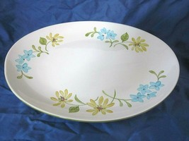"Vintage Franciscan Earthenware Floral Pattern Large 13 3/4"" Oval Serving... - $39.55"