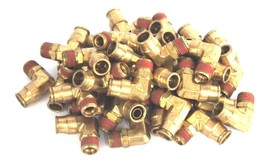 """LOT OF 38 NEW BRASS QUICK CONNECT MALE ELBOW FITTINGS 1/2"""" NPT X 1/2"""" OD"""