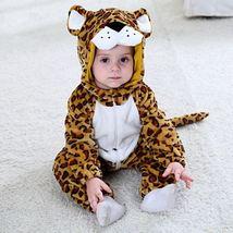 Baby Flannel Leopard Animal Romper Newborn Hooded Jumpsuit Hoodie Sleepwear - $36.80+