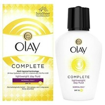 Olay 3in1 Lightweight Day Fluid Normal-Oily Skin cream SPF15 VITAMINS B3... - $11.88