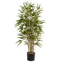 Twiggy Green Bamboo Tree artificial trunks realistic appearance -Great G... - $78.23