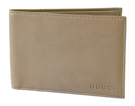 NEW GUCCI 333042 Men's Porridge Washed Softcalf Leather Bifold Wallet - $199.00