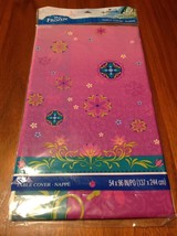 "Disney Frozen Children's Birthday Party Plastic Table Cover 96"" x 54"" Elsa Anna - $2.96"