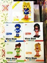 Sailor Moon Building Blocks Tsukino Usagi Nanoblocks Japan Anime Girls Lot 5 Set - $74.21