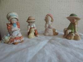 """Set of 4 Vintage HOLLY HOBBIE MINIATURES CHINA FIGURINES - Approx. 3"""" Tall - $11.88"""
