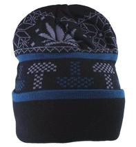 LRG Lifted Research Group Black Mushroom Weed Alpine Devine Beanie Winter Hat NW
