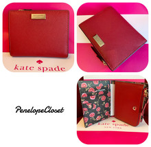 NWT KATE SPADE LEATHER LAUREL WAY HAZY ROSSE MALL SHAWN CARD CASE WALLET... - $39.88