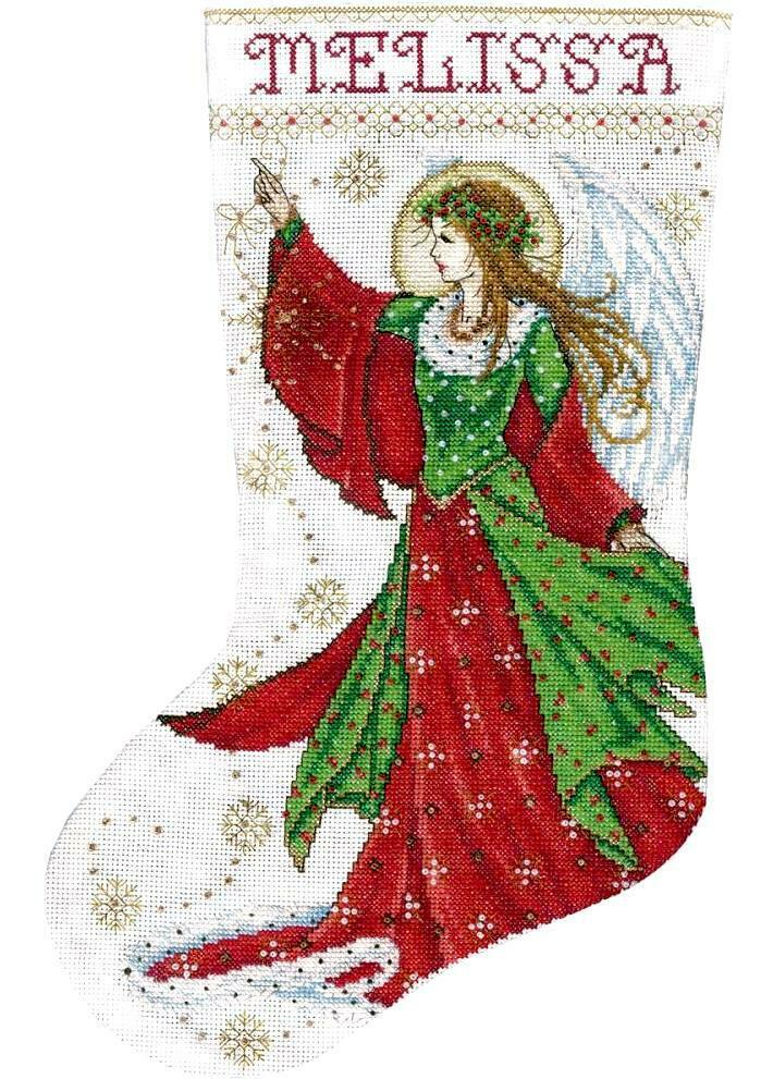 Design Works Angel of Joy Heavenly Christmas Cross Stitch Stocking Kit 5990 - $29.95