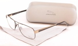 Authentic Jaguar Eyeglasses Frame 33068 854 Gold Gray Metal High Quality... - $158.19