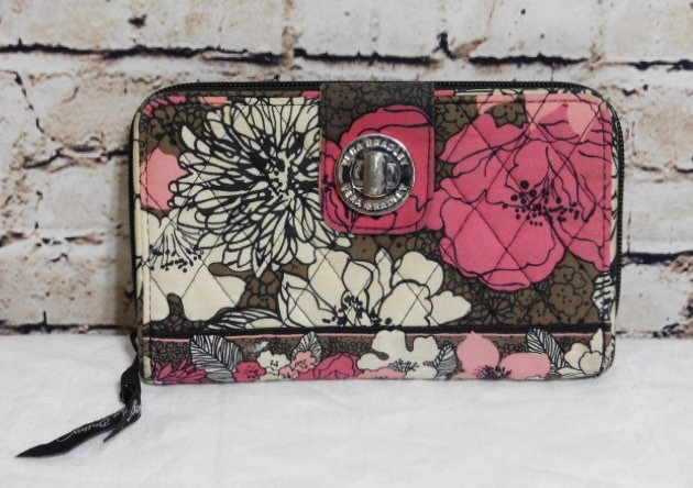 Vera Bradley Floral Fabric Turn Lock Wallet