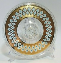 Culver Seville Replacement Lid For Fire King Dish 22K Gold Mcm Turquoise Diamond - $24.70