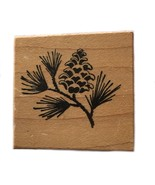 Rubber Wood Stamp Stamping Crafting PSX C-286 Pine Bough Sprig Cone - $9.89