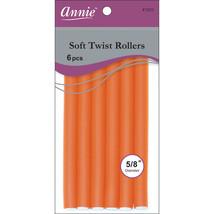Annie Soft Twist Roller 5/8 diameter 7'' Orange 6 Count #1203 - $5.63