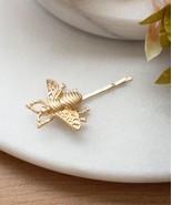 Gold Bee Hair Pin, Bumblebee Bobby Pin, Gold Bumblebee Hair Clip, Brides... - $11.88