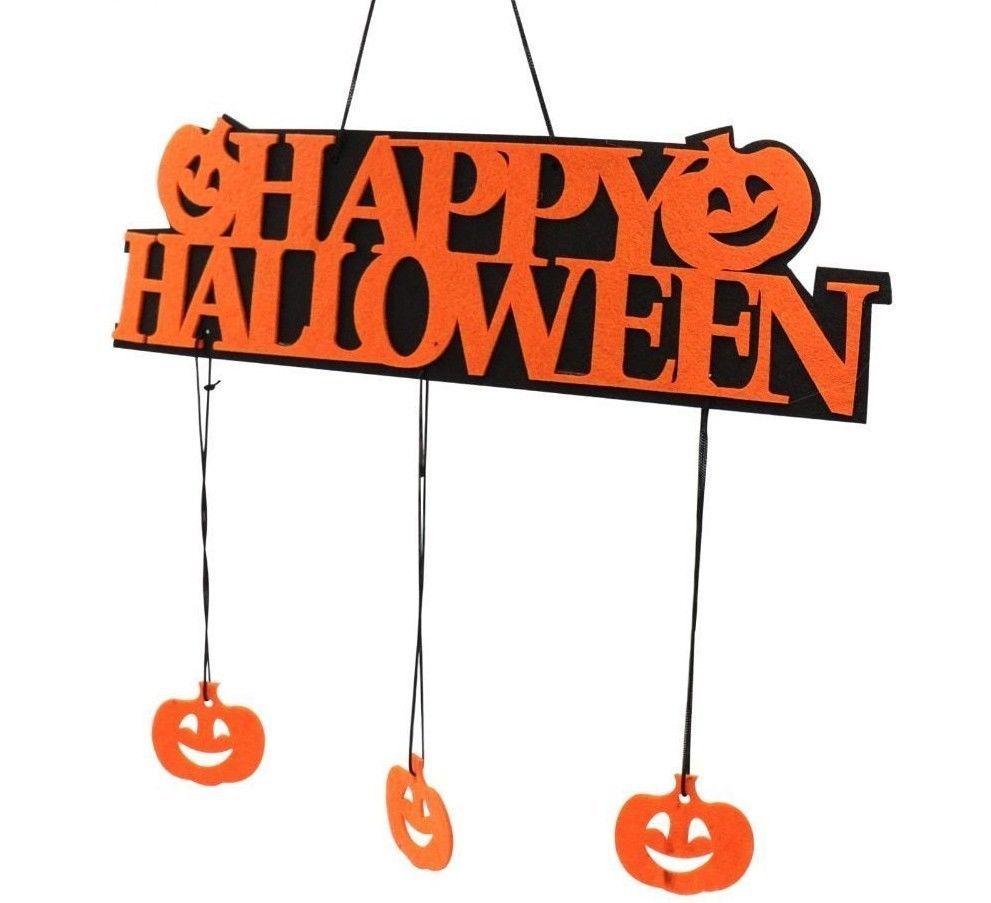 Happy Halloween Hanging Door Decoration Window Hangtag Party Pumpkin Doorplate