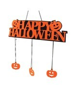 Happy Halloween Hanging Door Decoration Window Hangtag Party Pumpkin Doo... - $9.88