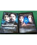 VICTOR FRANKENSTEIN LEGEND REBORN & MORTAL INSTRUMENTS CITY OF BONES DVD... - $3.99