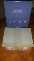 AVON DOWN ON THE FARM HOME COLLECTION RECIPE BOX W/DIVIDERS--NEW-in box - $23.38