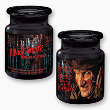 A Nightmare on Elm Street Movie Freddy Black Apothecary Style Glass Jar ... - $10.69